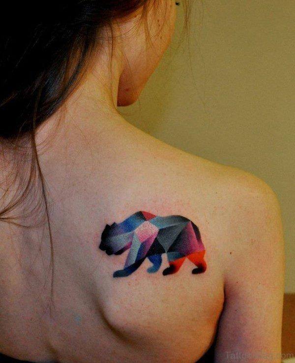 Bear Shoulder Blade Tattoo