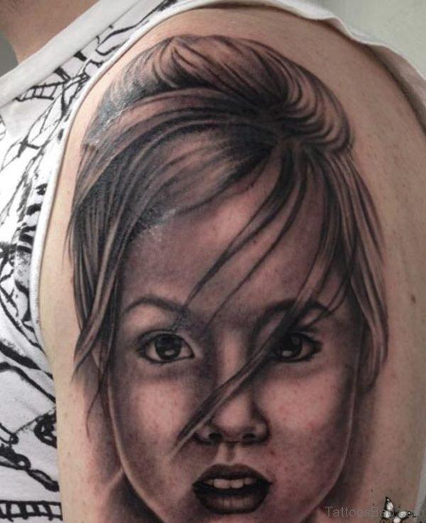Beautiful Girl Portrait Tattoo Image