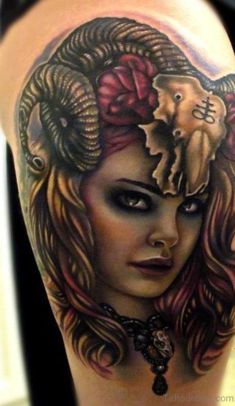 Beautfiul Portrait Tattoo Design