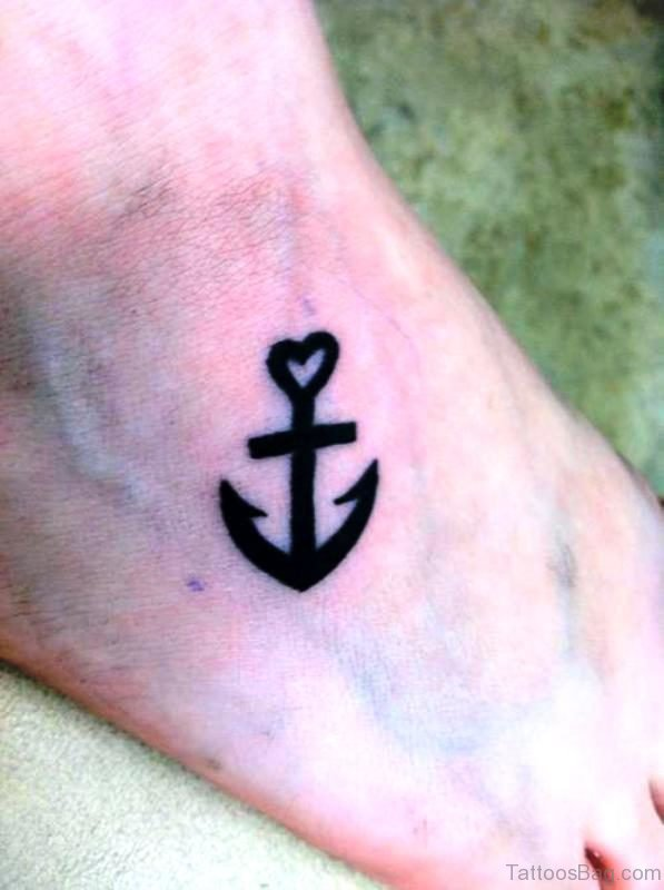 Beautiful Anchor Tattoo On Foot