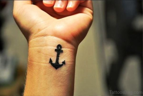 Beautiful Anchor Tattoo On Wrist