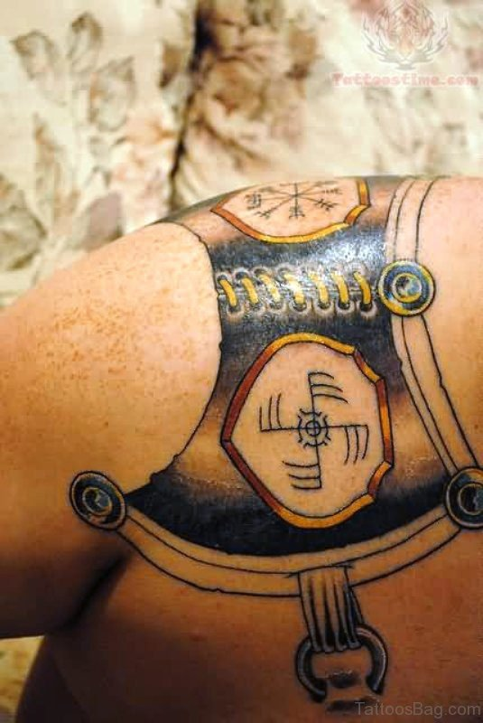 Beautiful Armour Tattoo Design