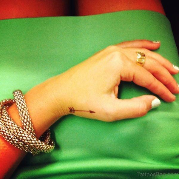 Beautiful Arrow Tattoo On Hand