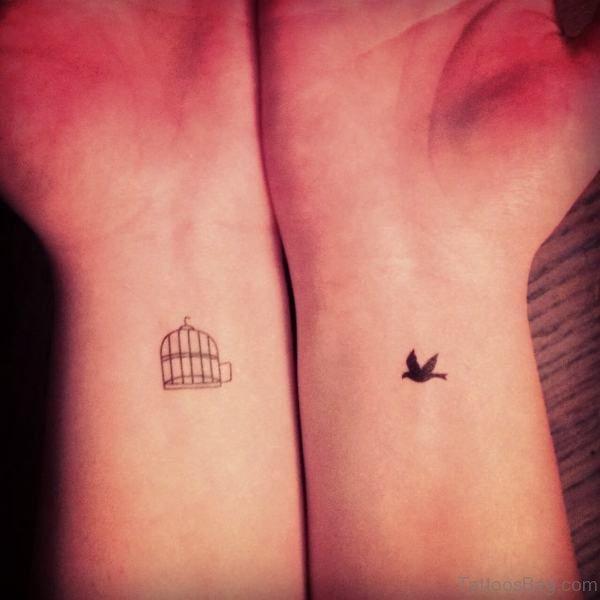 Beautiful Birdcage Tattoo On Wrist