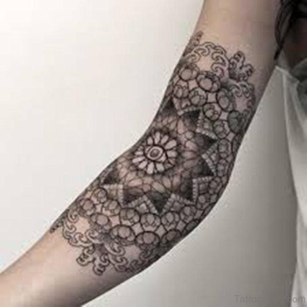 Beautiful Black Mandala Tattoo