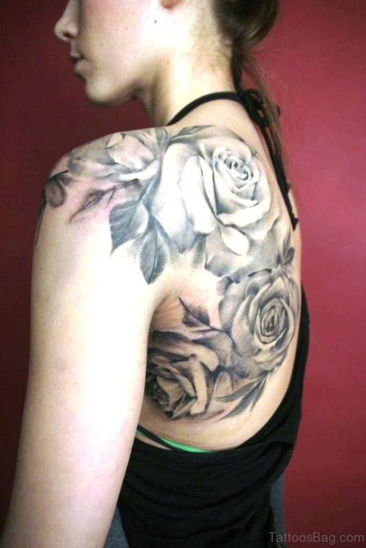 Beautiful Black Rose Tattoo
