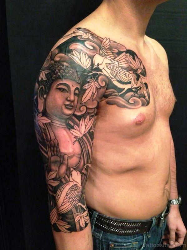 Beautiful Buddha Tattoo Full Sleeve