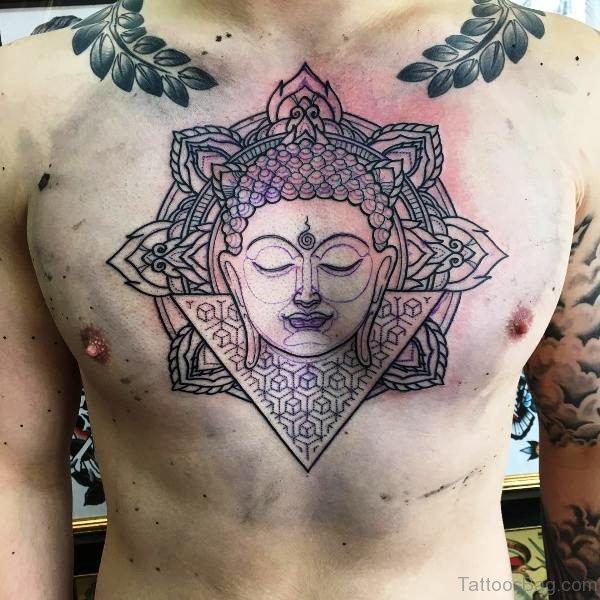 Beautiful Buddha Tattoo On Chest