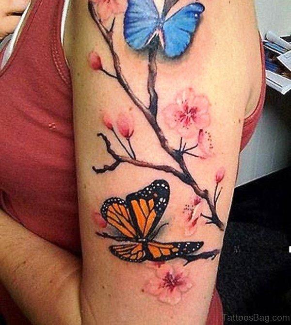 Beautiful Cherry Blossom Tattoo Design