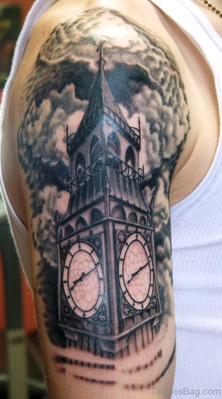 Beautiful Clock Tattoo Design