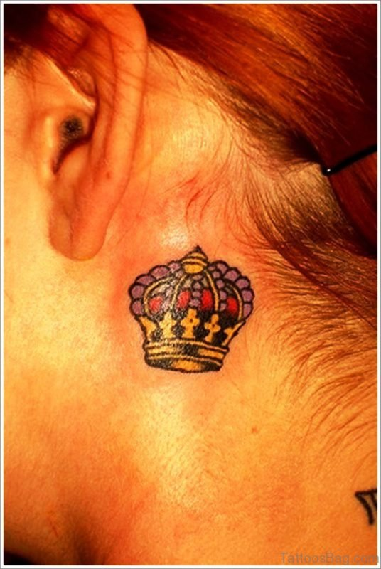 Beautiful Crown Tattoo Design