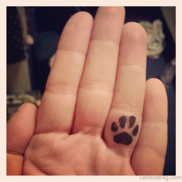 Beautiful Dog Paw Tattoo
