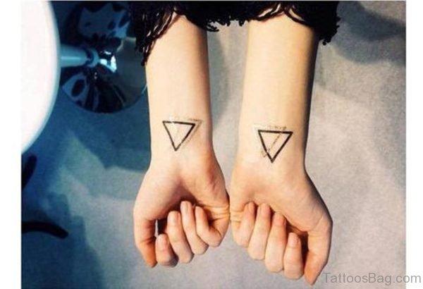 Beautiful Double Triangle Wrist Tattoo