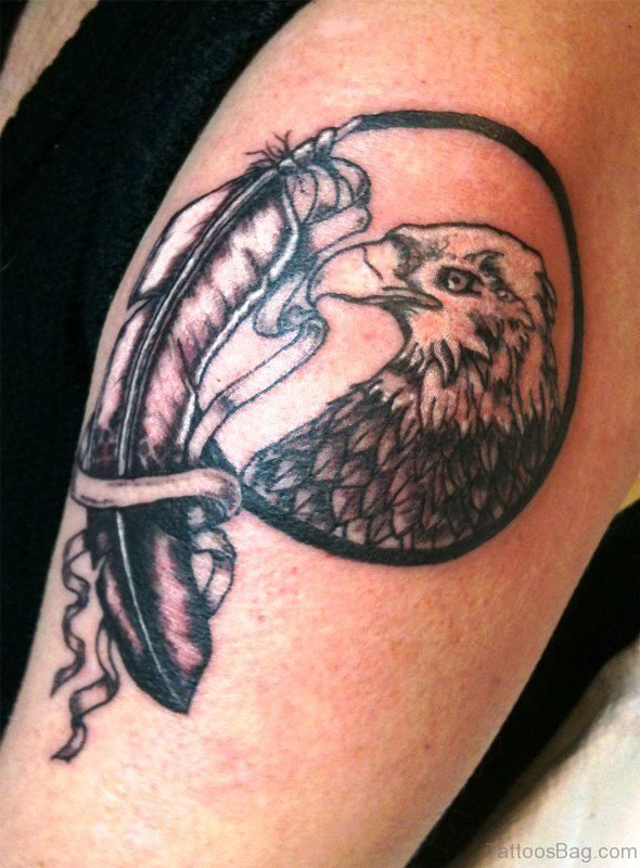 Beautiful Eagle Shoulder Tattoo
