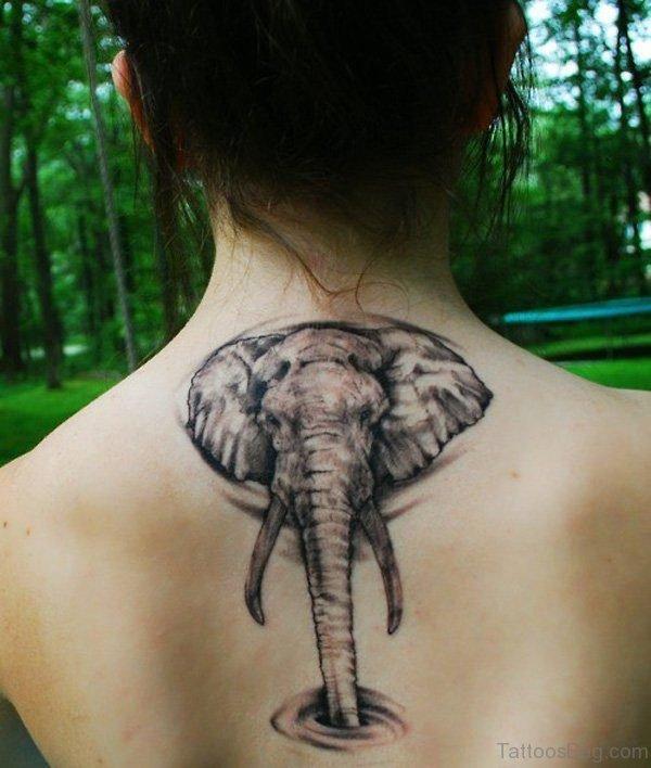 Beautiful Elephant Neck Tattoo
