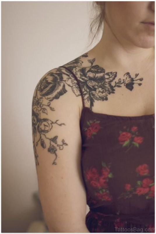 Beautiful Flower Lace Tattoo Design