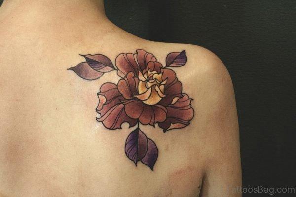 Beautiful Flower Shoulder Blade Tattoo