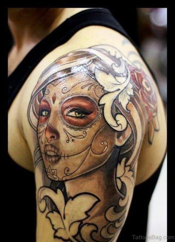 Beautiful Girl Aztec Tattoo