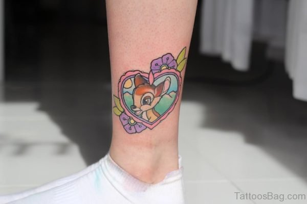 Beautiful Heart Tattoo On Leg