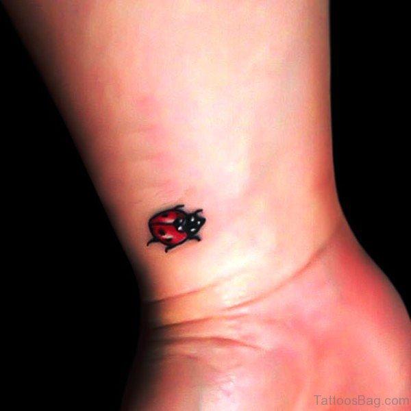 Beautiful Ladybug Tattoo On Wrist