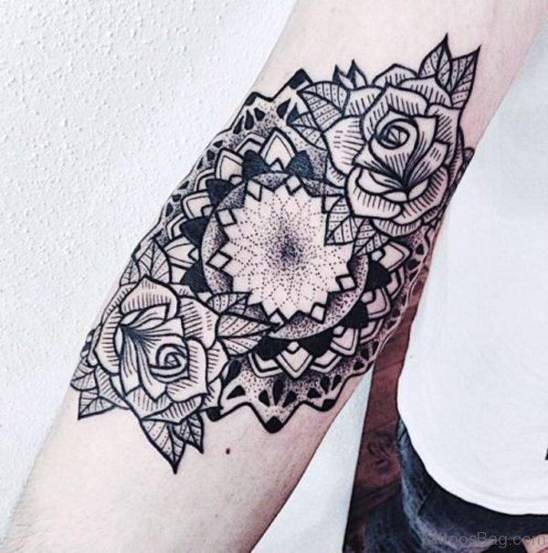 Beautiful Linear Mandala Tattoo On Arm