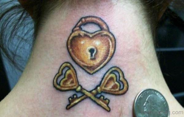 Beautiful Lock And Key Tattoo