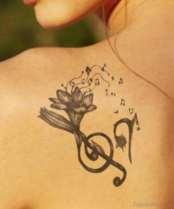 Beautiful Music Tattoo Design