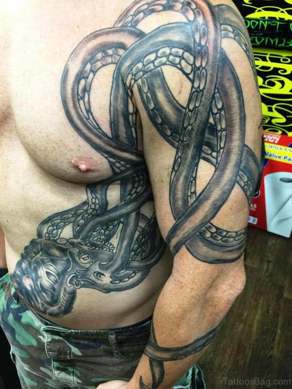 Beautiful Octopus Shoulder Tattoo