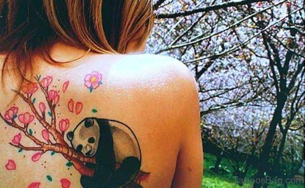 Beautiful Panda Shoulder Tattoo