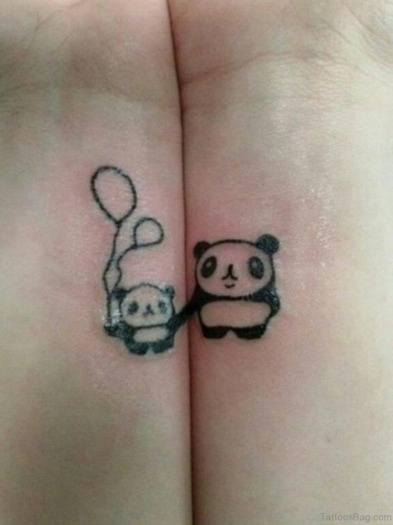 9 charming panda wrist tattoos for Baby panda tattoo