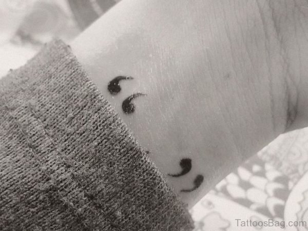 Beautiful Quotation Mark Tattoo On Wrist