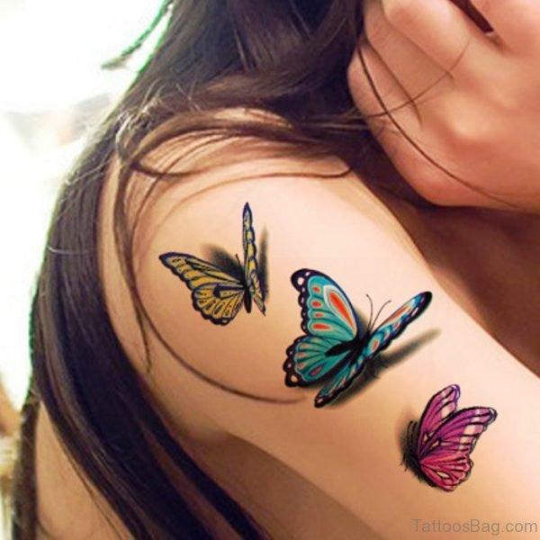 Beautiful Realistic Butterfly Tattoo