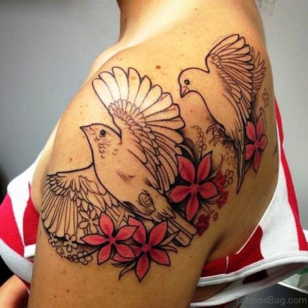 80 best birds tattoos on shoulder for On top of shoulder tattoo