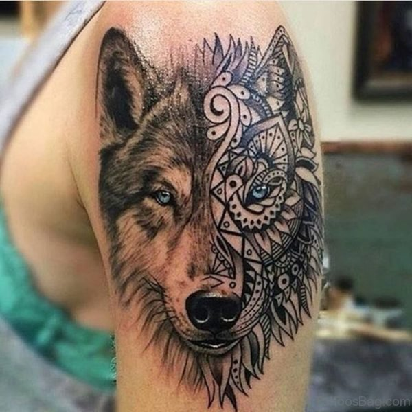Beautiful Wolf Tattoo