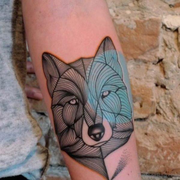 Beautiful Wolf Tattoo Design