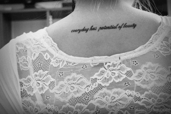 Beauty Tattoo On Neck