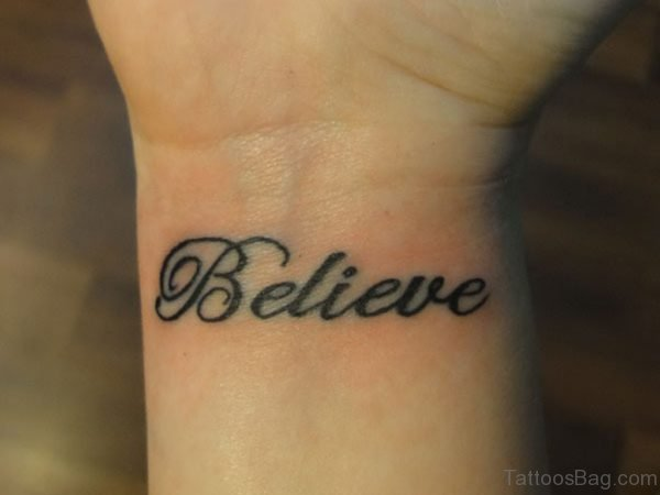 Believe Word Tattoo