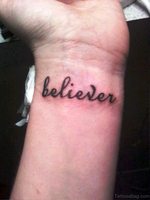 Believer Wrist Tattoo