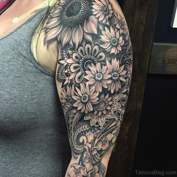 Best 3D Mandala Flowers Tattoo