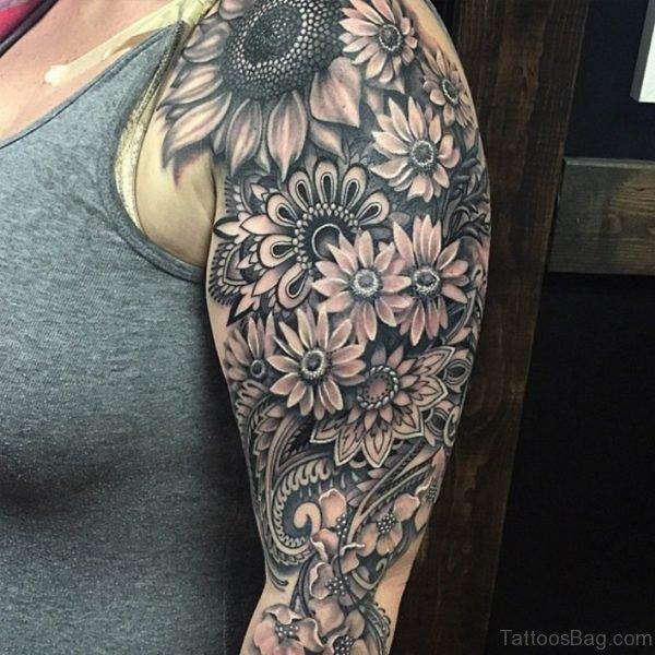 Best 3D Mandala Flowers Tattoo