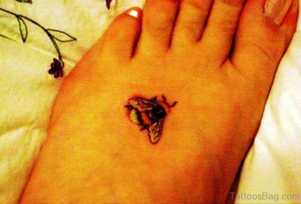 Best Bee Tattoo On Foot