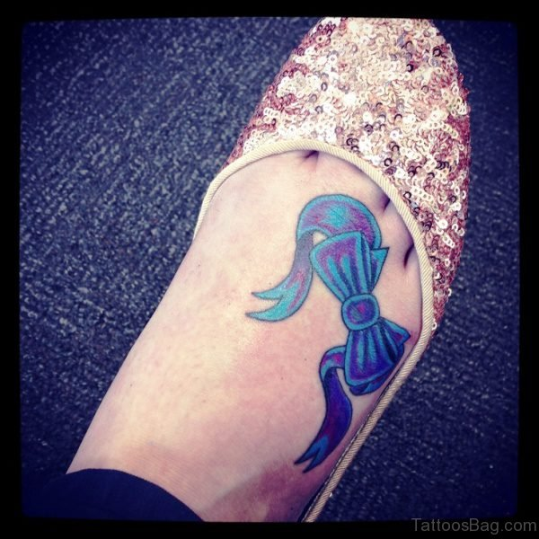 Best Bow Tattoo On Foot