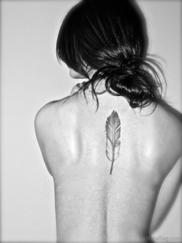 Best Feather Tattoo On Back