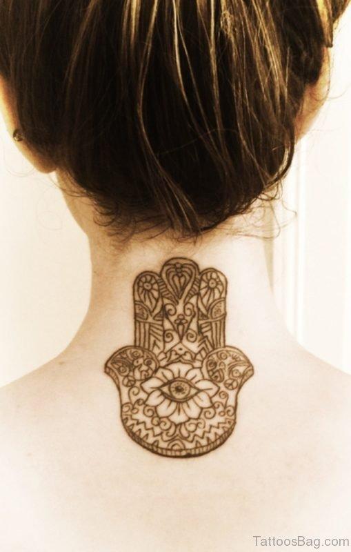Best Henna Tattoo On Neck Back