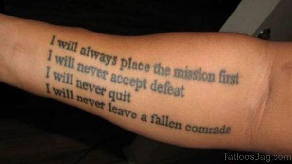 Best Wording Tattoo