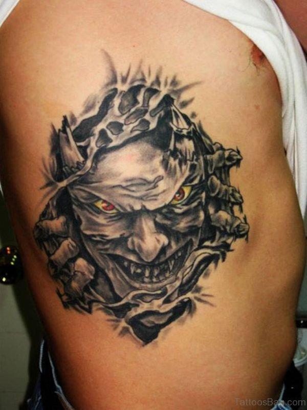 Biomechanical Devil Tattoo