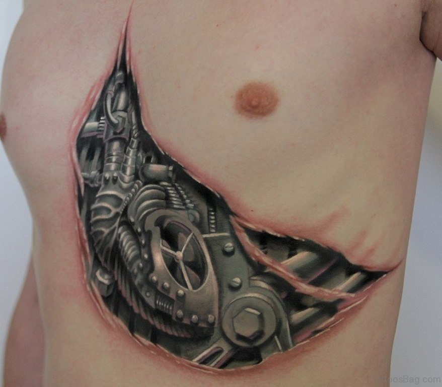 rare biomechanical tattoos  rib