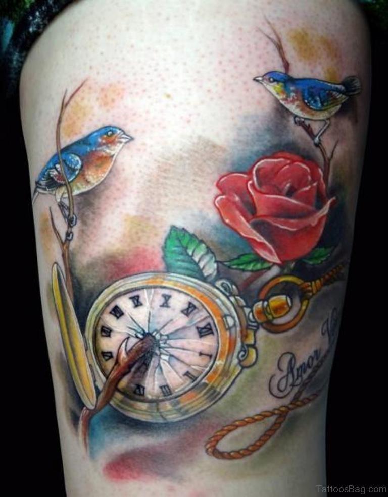 всеми коммуникациями тату часы и птицы фото данной категории можете