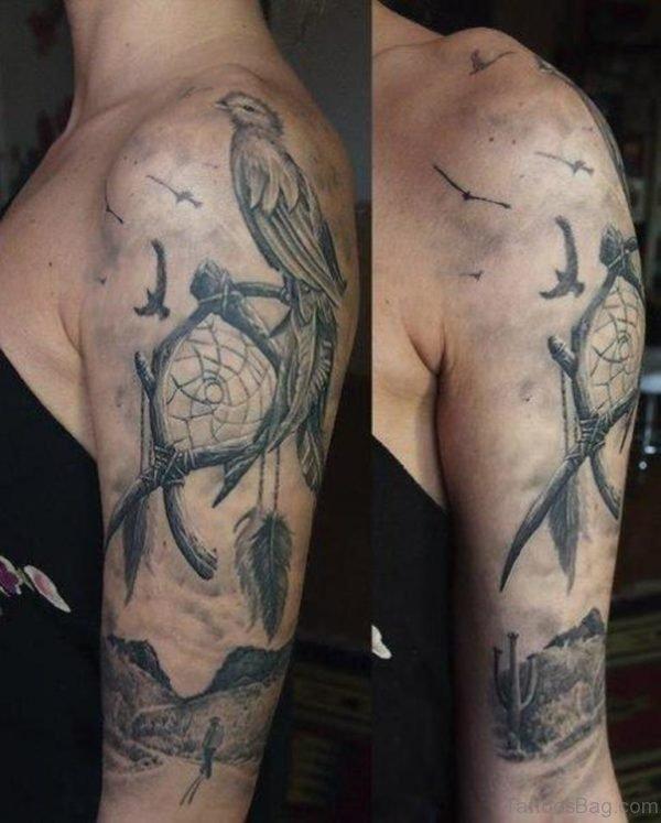 Bird And Dreamcatcher Tattoo
