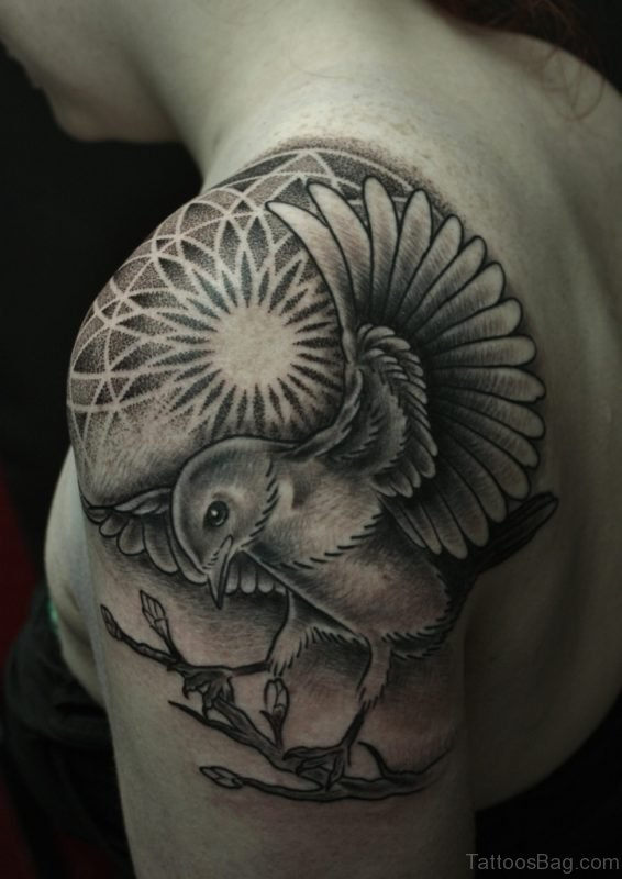 Bird And Mandala Tattoo